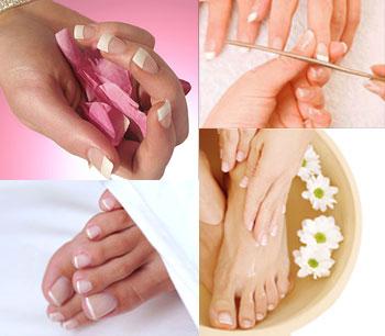 Manicuring and Pedicuring Photo
