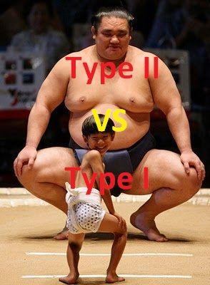 Types 1 v/s Type 2 Diabetes Photo