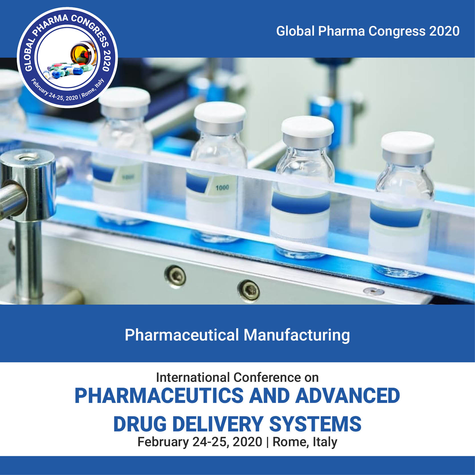 Pharmaceutical manufacturing  Conference   Rome  Italy