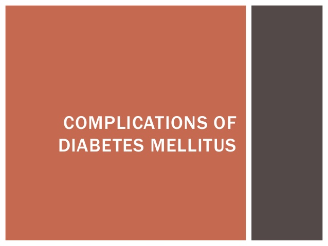 Complications of Diabetes Mellitus Photo