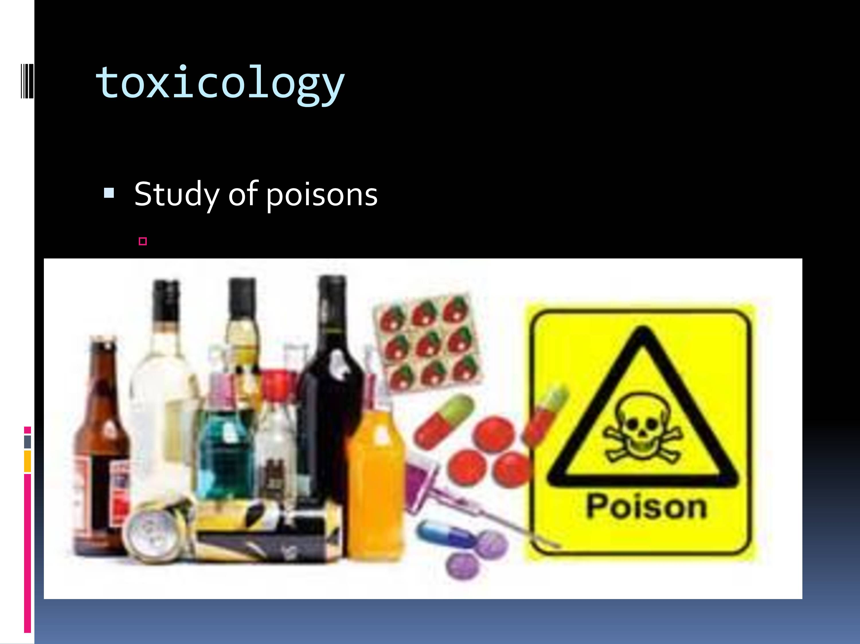 Pharmacotoxicology Photo