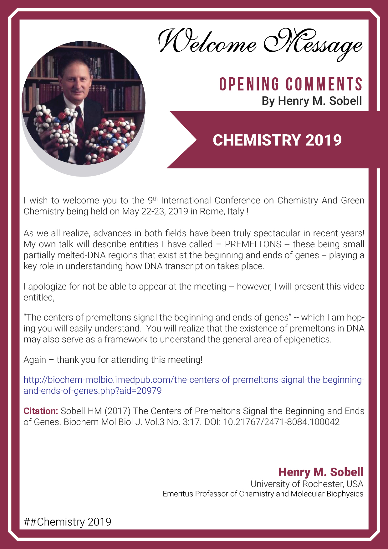 Chemistry Conferences | Top Chemistry Congress 2019 | Chemistry